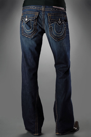 Mens True Religion Flare Jeans 01