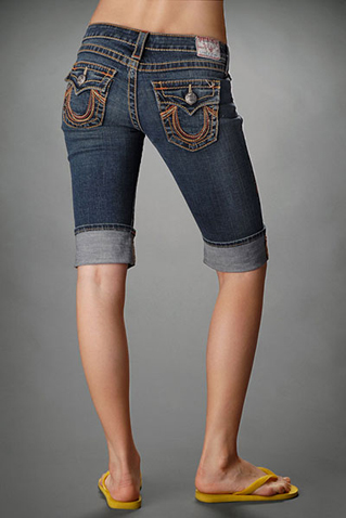Womens True Religion Crops Jeans 01