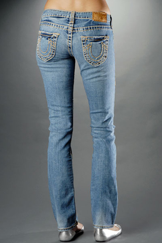 Womens True Religion Straight Jeans 38
