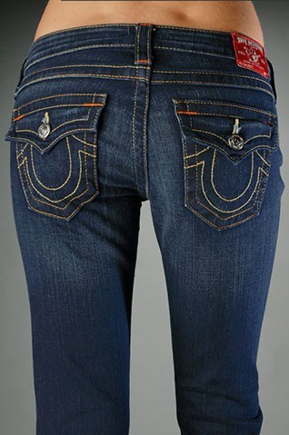 Womens True Religion Straight Jeans 57